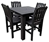 Phat Tommy Outdoor Recycled Poly Highwood Lehigh Square Dining Set