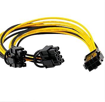 DKEY Molex Y-Kabel 1 in 6Pin und 2 out 8Pin für: Amazon.de: Elektronik