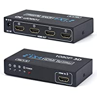 Gotd OEM 1x4 4 Ports HDMI Splitter Repeater Powered Splitter for Full HD 1080P & 3D Support (One Input To Four Outputs)