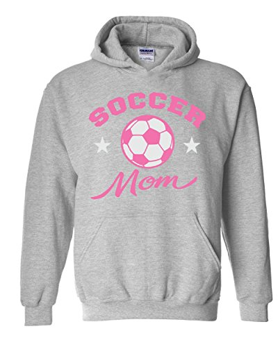 fan products of Soccer Hoodie Plush Soccer Mom Mothers Day Sports Event Soccer Fan Unisex Hoodies Sweater