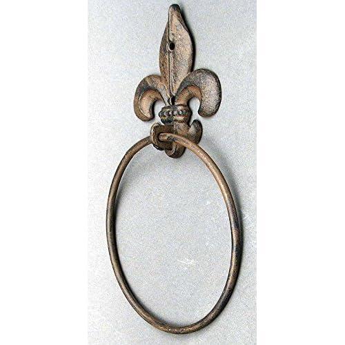 outlet IWGAC 0170S-01674 Fleur De Lis Towel Ring
