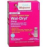 Walgreens Children's Wal-Dryl Allergy Medicine, Single Dose, Sugar Free Cherry-10 ea