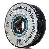 3D Solutech Real Black 3D Printer PLA Filament 1.75MM Filament, Dimensional Accuracy +/- 0.03 mm, 2.2 LBS (1.0KG) - 100% USA