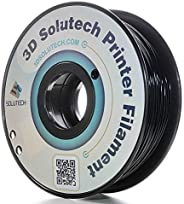 3D Solutech Real Black 3D Printer PLA Filament 1.75MM Filament, Dimensional Accuracy +/- 0.03 mm, 2.2 LBS (1.0
