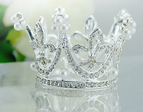 Sunshinesmile Princess Bridal Wedding Party Baby Rhinestone Full Circle Round Mini Crown Tiara - Round Crown