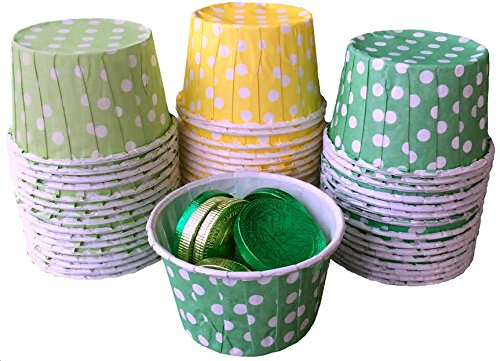 Outside the Box Papers St Patrick's Theme Candy/Nut Cups Pack of 48 Green, White, Yellow