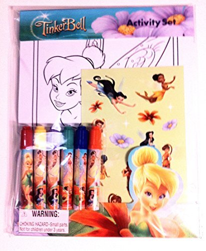 Walt Disney World Magic Kingdom Theme Park Tinkerbell Fairy Activity Set with Coloring Pages, Markers and Stickers