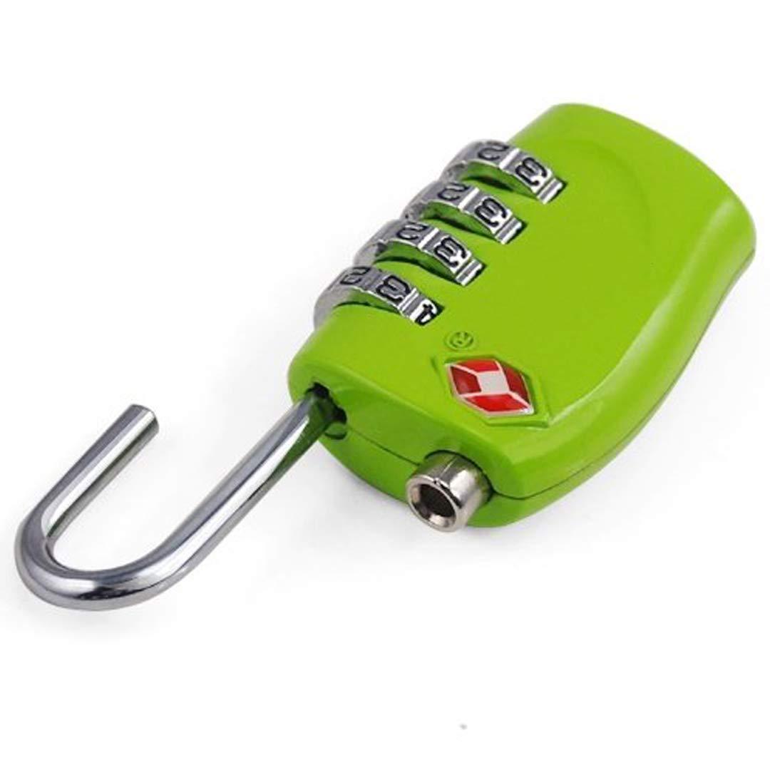 verde TRIXES Lucchetto di sicurezza a 4 combinazioni per valigia approvato dalla TSA