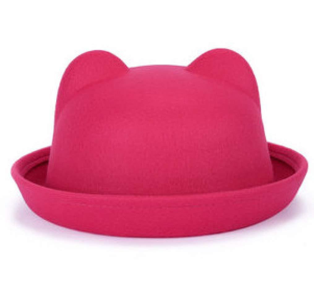 Women's Fashion Cat Ears Cap Light Bowler Top Hat Costume Bowler Bucket Hat Packable