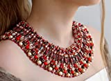 """Product review for Necklace Hand Made of Beads and Pearls """"Nefertiti"""" Jewelry Ideas"""