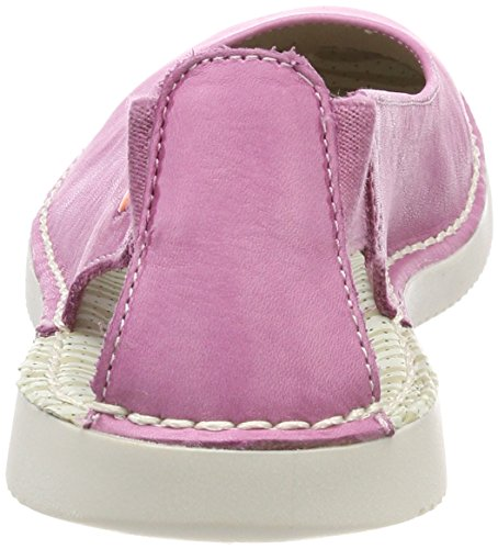 Donna Pink con Retro Chiusura Rosa Ballerine sul Washed Tho456sof Softinos ZxwqgCfg