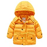 LJYH baby boys Tonal Colorblock Puffer with Hat