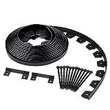 Dimex EdgePro Plastic Heavy Duty No-Dig Landscape Edging Kit, 40ft coil each, Pack of 6 (3100-40C-6)