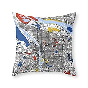 Throw Pillow Inserts 20 X 20 : Amazon.com: Society6 Portland Throw Pillow Indoor Cover (20