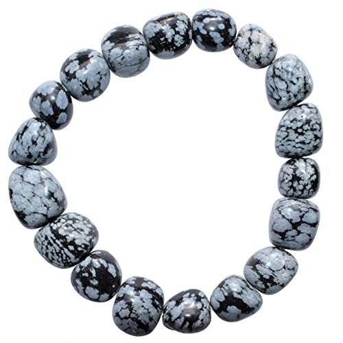 Obsidian Crystal Bracelet Polished Stretchy (PERFECT GROUNDING CRYSTAL - PROMOTES SELF-ESTEEM, CONFIDENCE, COURAGE - DISSOLVES ANGER & FEAR) HEALING ENERGY REIKI by ZENERGY GEMS (Obsidian Apparel)