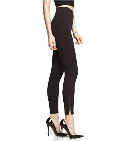 644e8503c373a Skweez Couture Ponte Knit Ankle Zip Legging Targeted Slimming Contour,  Black, 1X