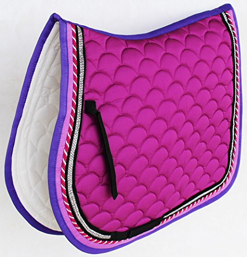 (Professional Equine Horse Quilted English Saddle PAD Trail All Purpose Purple 72F55)