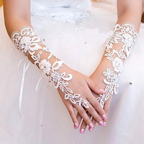 - Exquisite Fingerless Sequins Rhinestone Bridal Glove