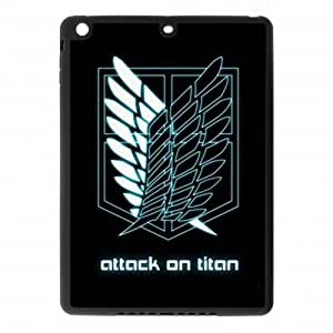 Heavenly Cases Attack on Titan TPU Case Cover Skin for iPad Air iPad 5 - 1 Pack - Black/White - 1