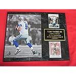 Cowboys Tony Romo 2 Card Collector Plaque  2 w 8x10 Photo 40be1a2cf