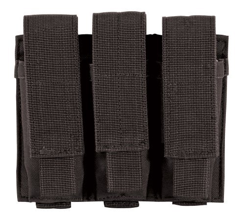 VooDoo Tactical 20-7976001000 pistol Triple Mag Pouch, Black Double Ammo Pouch