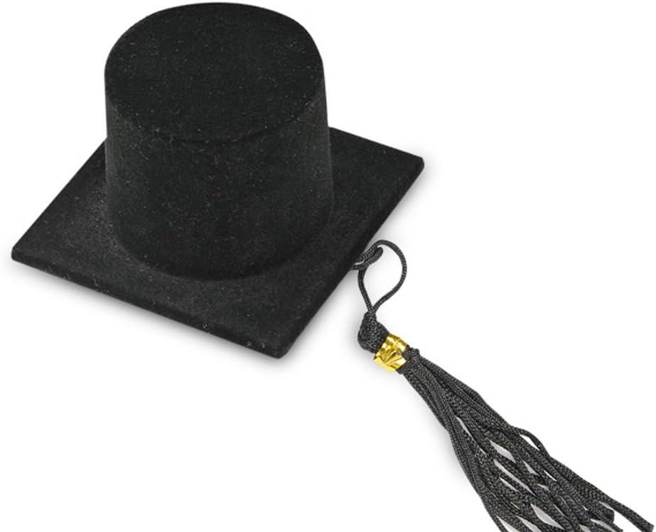 Noir Club Vert Chapeau de dipl/ôm/é en Velours Lot de 12