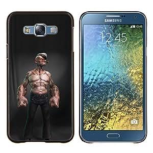 Caucho caso de Shell duro de la cubierta de accesorios de protección BY RAYDREAMMM - Samsung Galaxy E7 E700 - marinero abs sexy man cgi Capitán del niño