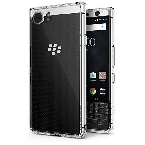 Ringke Fusion Compatible with BlackBerry KEYone Case Crystal Clear PC Back TPU Bumper [Drop Protection, Shock Absorption Technology] Raised Bezels Protective Cover - Clear ()