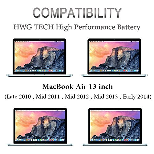 A1466 A1369 A1496 A1405 A1377 Battery for Apple MacBook Air 13 inch A1466 (Mid 2012, Mid 2013, Early 2014, Early 2015 Version), A1369 (Late 2010, Mid 2011 Version) Laptop Replacement Battery by HWG by HWG (Image #5)