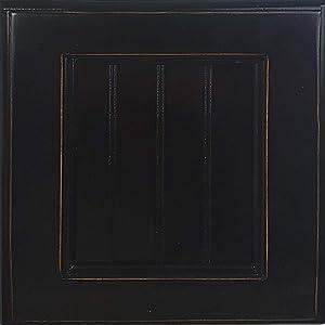 American Heartland Poplar Double Door Armoire W/Drawers in Antique Black