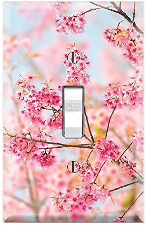 Graphics Wallplates Sakura Cherry Blossom Single Toggle Wall Plate Cover