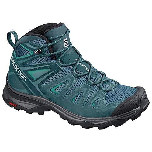 (Salomon X Ultra Mid 3 Aero Hiking Boot - Women's, Mallard Blue/Reflecting L40241200-11)