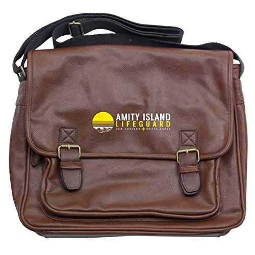 Laptop Jaws Luxury Bag Lifeguard Wings Island Amity Messenger Tan qrIqX