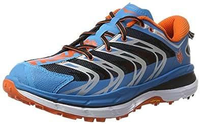Hoka One One Men's Speedgoat Shoe (8, Blue/Red Orange)