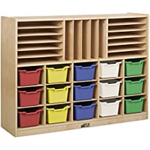 ECR4Kids Birch Multi-Section Storage Cabinet