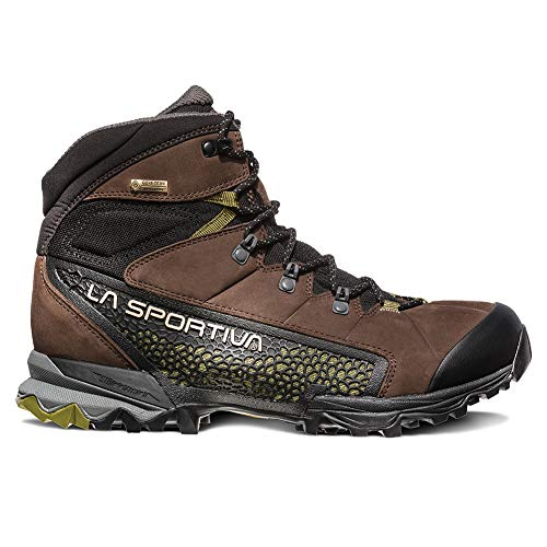 La Sportiva NUCLEO HIGH GTX Hiking Shoe, Chocolate/Avocado, 47.5