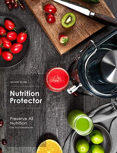 Centrifuga Frutta e Verdura, Aicook 600W Estrattore di Succo a Freddo a 65MM Bocca, Acciaio Inossidabile a Usi… 7