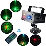 ▶▶▶Laser Lights Led Projector Perfect For:Wedding,Birthday party,Christmas,Halloween,KTV, Family party, Bars,Clubs,Store and Shop.▶▶▶Product Characteristic: 1.3 Laser sources (Laser diode) 48 Patterns.2.Red,Green and Blue color.A separate eff...