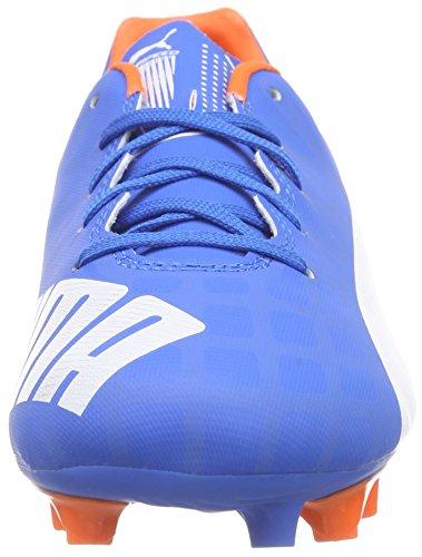 Puma evoSPEED 5.4 FG Jr - zapatillas de fútbol de material sintético Niños^Niñas azul - Blau (electric blue lemonade-white-orange clown fish 03)