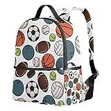 Ahomy Backpack for Girls, Football Basketball Baseball Rucksack School Book Bags Casual Daypacks for Travel and Sports