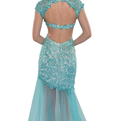 Alyce Paris Cap Sleeve Lace & Tulle Gown Jade – 0