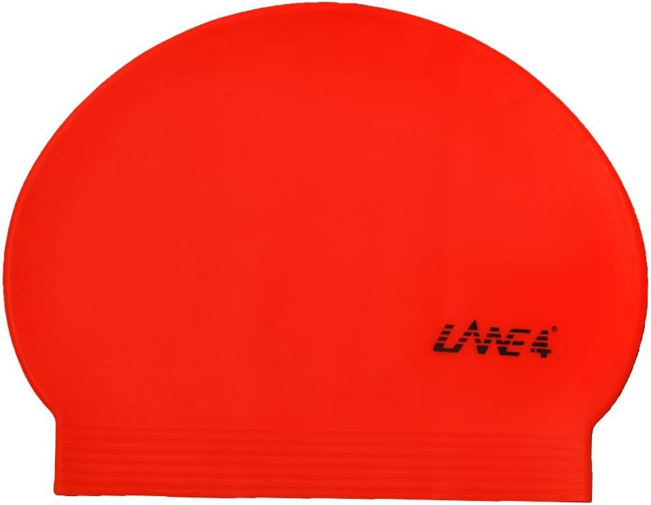 c/ómodo Color Liso LANE4 Accesorios Gorr de Piscina de l/átex Ligero y Profesional para Adultos y Adolescentes.