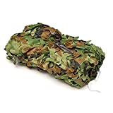 Ayans Woodland Camo Netting,Camouflage Net 6.5ft x 10ft for Sunshade Camping Military Hunting Shooting Outdoor Party Decor
