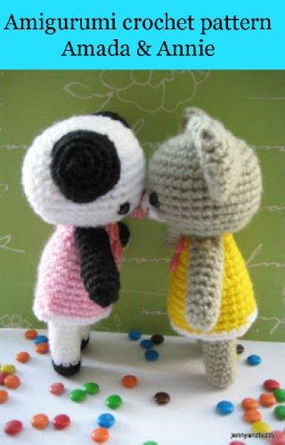 Amigurumi crochet pattern two bear Amanda & Annie