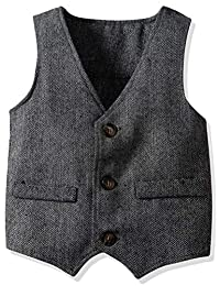 ARAUS Kids Boys Formal Single Breasted Waistcoat Slim Fit Wedding Tuxedo Vest