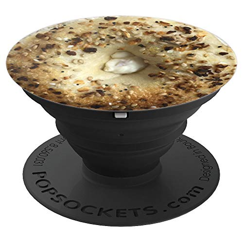 New York Everything Bagel with Cream Cheese - PopSockets Grip and Stand for Phones and Tablets