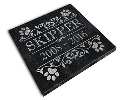 (Personalized Small Pet Memorial Plaque 6x6 Cat Dog Garden Grief Sympathy In Memory Grave Marker)