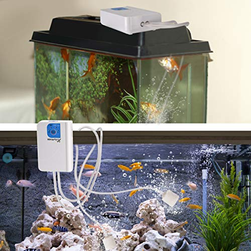 Aquarium Air Pump for Fish Tank Portable Three Modes Aerator Outdoor Fishing Portable Air Pump USB Charging Oxygen Aerator Pump Great for Fishing Fish Transportation Freshwater and Marine Aquariums.