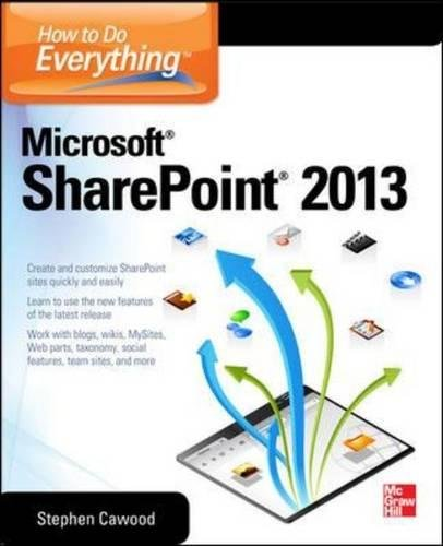 How to Do Everything Microsoft SharePoint 2013 [Stephen Cawood] (Tapa Blanda)