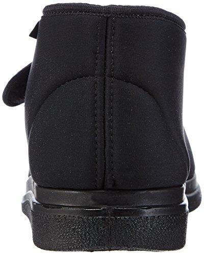 Fischer Bequem Schuh Hoch Schwarz Neopren, Unisex Adults' Warm Lined Low House Shoes Black - Schwarz (222 Schwarz)